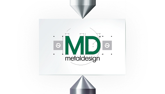 «Metaldesign» - основная форма логотипа - портфолио дизайн-студии «Артбайт!» Нижний Новгород